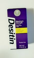 Desitin Diaper Rash Paste 2oz Maximum Strength Zinc Oxide Exp 03/2021 #1 CHOICE
