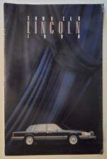 LINCOLN TOWN CAR orig 1990 USA Mkt Large Format Sales Brochure - Cartier