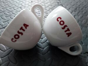 New Costa Coffee Mugs Cups Large Chunky Design Gift Set Of 2