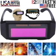 Solar Powered Auto Darkening Welding Helmet Eyes Welder Glasses For Welding