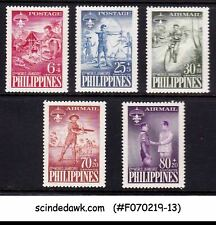 PHILIPPINES - 1959 10th WORLD JAMBOREE / BOY SCOUTS - 5V - MINT NH