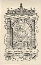 ex-libris Juan Martinez Sansalvador