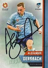 ✺Signed✺ 2015 2016 SYDNEY FC A-League Card ALEXANDER GERSBACH