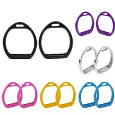 HORSE RIDING SAFETY STIRRUPS BENDY IRONS STAINLESS STEEL/ALUMINUM