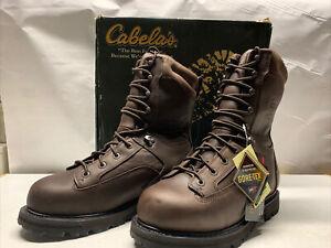 "Cabelas 11"" 1200 Gram ""Outdoor Series Pro Hunting Boots 9 1/2 EE Brown"