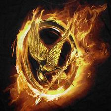 NECA Hunger Games T-Shirt XL Burning Mockingjay Catching Fire Movie Film