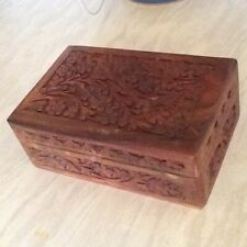 DARJEELING TEA WOODEN TRINKET BOX .
