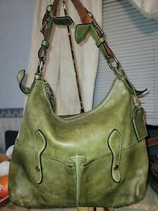 DOONEY & BOURKE Large Florentine Lucy Hobo Green Leather with straped coin purse
