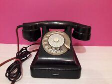 USSR Black bakelite rotary phone VEF 1950's Vintage Soviet UNION Telephone №15