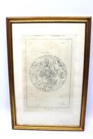 Kupferstich Sternenkarte um 1800 Frankreich Blatt 68