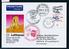 59280) LH FF Bastia Frankreich - Frankfurt 2.4.2011, So-Kt Monaco Helikopter