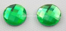 STRASS 10mm 10pz cabochon Termoadesivi Verde green tondo 1cm hot fix adesivo