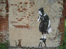 BANKSY ART PRINTS # PHOTO PRINT A4 SIZE 210X297MM NOT CANVAS NEW (RAT GIRL)