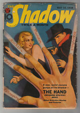 The Shadow May 15 1938 Vintage Hero Pulp Magazine 1st appearance The Hand