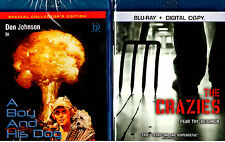 The Crazies Blu-ray , A Boy and His Dog Blu Ray - 2 Pack SET BRAND NEW Sci Fi