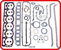 *FULL GASKET SET*  Jeep Wrangler Cherokee CJ J-Truck 258 4.2L OHV L6  1986-1990