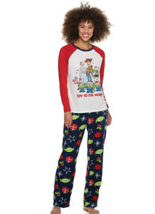 Jammies for your Families:Toy Story Four, Women 2pc Long Sleeve/Leg Pj Set; Lrg