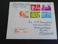 Nederland 870/874 op brief met 1e dag stempel aangetekend Amstelveen - Essex