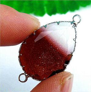 25x19x8mm Faceted Wrapped Titanium Crystal Teardrop Bracelet Connector AP20925
