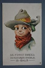 R&L Postcard: Comic, Wall 6294, Finest Breed in Nature is Gals Girls, Cowboy