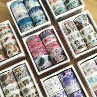 10 Rolls Flower Dog Fish Paper Craft Scrapbooking Adhesives Masking Washi Tape
