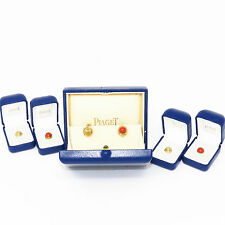 NYJEWEL Piaget 18k Yellow Gold Earrings With Unique Changeable Coral Insert