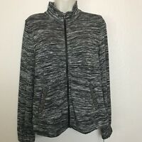 Juicy Couture Zip Up Embellished Sweater Jacket Womens Size X-Small Black E60
