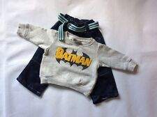 Baby Boys 3-6 / 6-9 Months NEXT Grey Batman Jumper + G.Star Blue Jeans & Belt