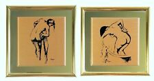 Edgar Degas Femme à sa Toilette Images on Copper Plate Framed Pair