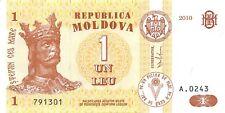 Moldova 1 Leu 2010 Unc Pn 8h.1