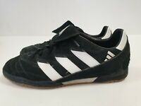 N688 MENS ADIDAS BLACK SUEDE LACE UP TRAINERS UK 8 EU 42 US 8.5