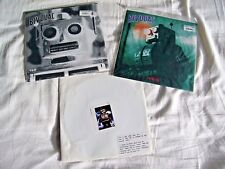 "BIVOUAC -  3 x 7"" Vinyl Singles - THINKING/MY ONLY SAFE BET/MONKEY SANCTUARY EX+"