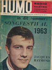 HUMO 1177 (28/3/63) JACQUES RAYMOND SPIROU CHAMBERLAIN CONNIE FRANCIS SORAYA