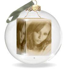 TOP ! Weihnachtskugel aus Glas mit Deinem individuellen Foto. Weihnachtsgeschenk