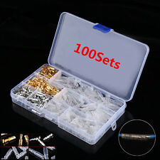 100 Sets 3.9mm Car Motorcycle Brass Bullet Connectors Male&Female Wire Terminals