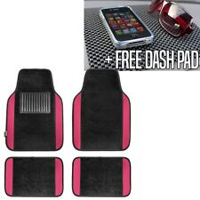 Carpet Floor Mats With Pink Trim Fit Most Car, Truck, Suv, or Van  Free Dash Pad