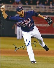 Signed  8x10 DANNY VALENCIA Minnesota Twins Autographed Photo - COA