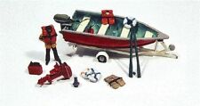 JL Innovative (HO-Scale) #456 Deluxe Boat, Motor & Trailer & Accessories - IB
