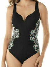Miraclesuit Women's Swimsuit Size 16 Black One Piece Samsara Temptress