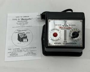 """1946 Lionel Type """"Q"""" TRAINmaster 75 Watt Postwar Transformer C-7 Condition"""