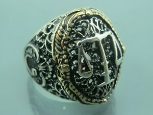 Turkish Handmade Jewelry 925 Sterling Silver Scales Design Men Ring Sz 11