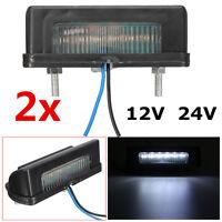 2 x LED LKW Anhänger Kennzeichenbeleuchtung Nummernschild Leuchte Lampe  =