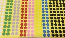Sticky Dots multi colour variety pack 8 coloured sheets 750+ stickers labels