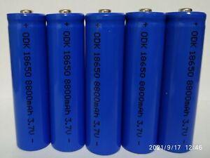 5 batterie pila ricaricabile a litio 3,7 v. 8800 mha / 35 grammi