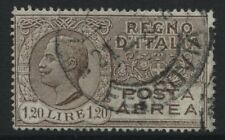 Italy 1927 1.20 lire brown Airmail CDS used