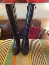 "Office ""Keepers"" Block Heel Black Knee Length Boots Size 5 In Good Condition!"