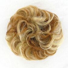 chouchou peruk cheveux blond cuivré méché blond clair ref: 17 en f27613