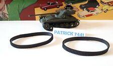 DINKY TOYS Militaire lot de 2 Chenilles pour char AMX Dinky toys réf 80C