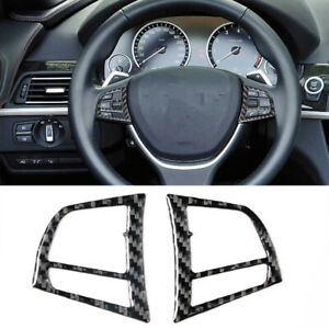 Carbon Fiber Steering Wheel Button Sticker Trim For BMW 6Series F12 F13 2011-18