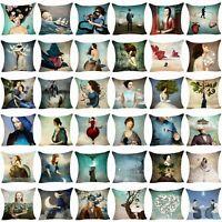 Christian Pillow Case Cotton Linen Sofa Cushion Cover Throw Pillow Cover